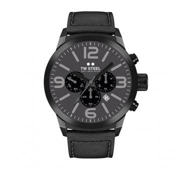 TW Steel Marc Coblen Edition Chrono mit Lederband 45 MM Grey/Black TWMC39