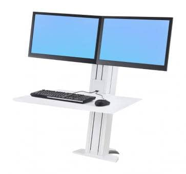 Ergotron WorkFit-SR Dual Monitor white Sit-Stand Desktop Workstation 33-407-062