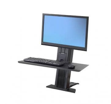Ergotron WorkFit-SR Single Monitor black Short Surface Sit-Stand Desktop Workstation 33-420-085