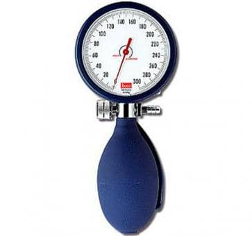 boso clinicus II Mechanical Blood Pressure Device Ø 60 mm blue with hook cuff