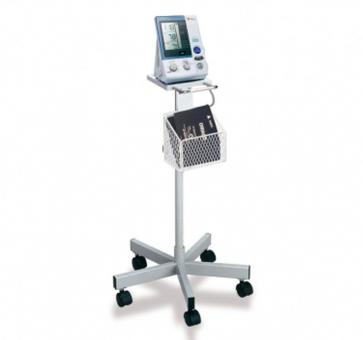 Return OMRON Mobile Stand with Storage Basket for HEM 907 Upper Arm Blood Pressure Monitor