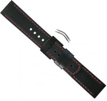 Suunto Elementum Terra/Ventus Black/Red Leather Strap Kit