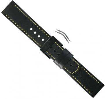 Suunto Elementum Terra Black/Yellow Leather Strap Kit